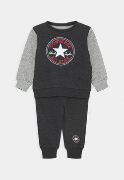 Converse - COLORBLOCK CREW SET - Sweater - black heather