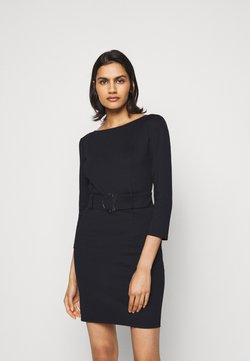Patrizia Pepe - LOGO BELT DRESS FLY - Etuikleid - nero