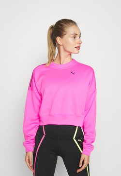 Puma - TRAIN BRAVE ZIP CREW - Collegepaita - luminous pink