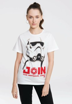 LOGOSHIRT - STORMTROOPER  JOIN THE IMPERIAL ARMY  STAR WARS - T-Shirt print - altweiss
