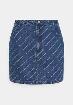 Missguided Plus - PRINT SKIRT - Minirock - blue