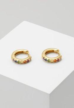 Orelia - RAINBOW PAVE HUGGIE HOOP - Earrings - gold-coloured