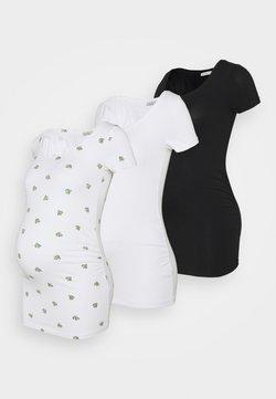 Anna Field MAMA - 3 PACK  - T-shirt imprimé - black/white/white