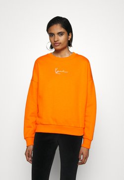 Karl Kani - SMALL SIGNATURE CREW - Bluza - orange