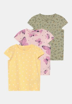 Name it - NBFSONYA 3 PACK - T-shirt med print - desert sage