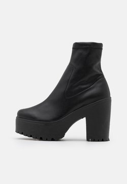 Topshop - SOCK BOOT - Platform-nilkkurit - black