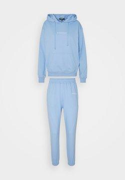 Missguided Petite - HOODY JOGGER SET - Kapuzenpullover - blue