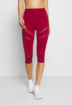 Even&Odd active - 3/4 Sporthose - dark red