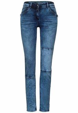 Cecil - MIT ZEBRA - Jeans Slim Fit - blau