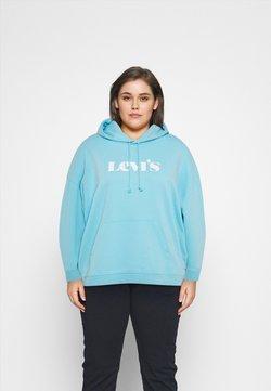 Levi's® Plus - GRAPHIC HOODIE - Sweater - new blue topaz