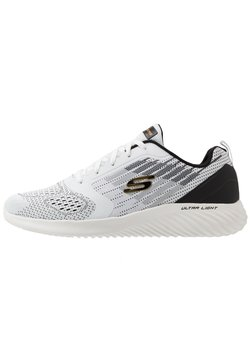 Skechers Sport - BOUNDER - Sneaker low - white/black