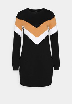 ONLY - ONLDAKOTA O NECK DRESS - Freizeitkleid - black/hazel/bright white