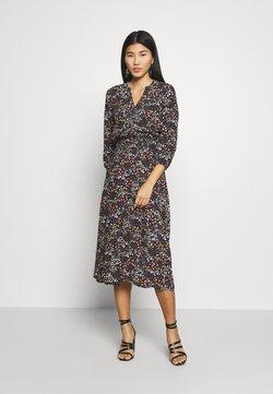Mavi - VNECK DRESS - Vestido informal - black/pastel