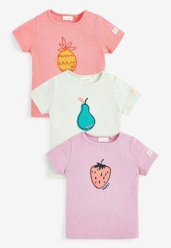 Next - 3 PACK FRUIT RIB - Camiseta estampada - multi-coloured