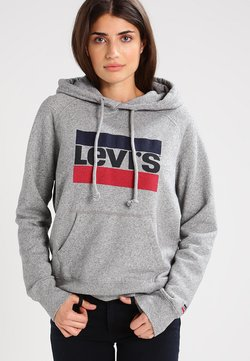 Levi's® - GRAPHIC SPORT - Sweat à capuche - smokestack heather