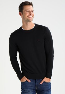 Tommy Hilfiger - C-NECK - Strickpullover - flag black