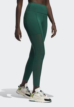 adidas Originals - Ivy Park Mesh 3 Stripe Tight - Legging - darkgreen