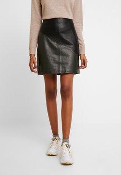 Selected Femme - SLFMARVA SKIRT - A-line skirt - black/rosin