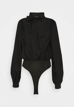 Missguided Tall - BOW BODYSUIT - Bluse - black
