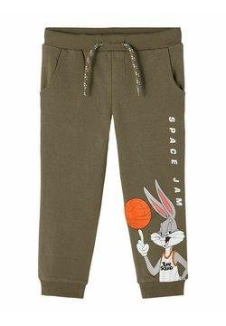 Name it - SWEATHOSE SPACE JAM - Pantalones deportivos - stone gray