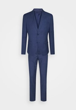 Isaac Dewhirst - THE FASHION SUIT 3 PIECE WINDOW CHECK SET - Costume - blue