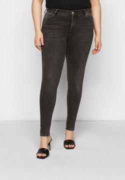 Pieces Curve - PCDELLY - Jeansy Skinny Fit - dark grey denim