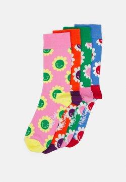 Happy Socks - SMILING FLOWERS 4 PACK UNISEX - Socken - multi