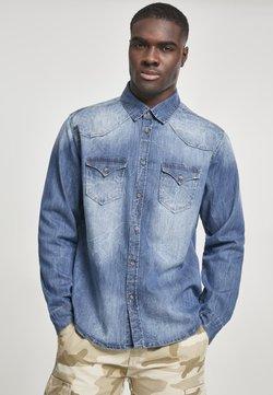 Brandit - HERREN RILEY DENIMSHIRT - Overhemd - blue