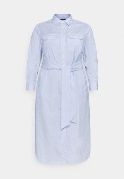 Lauren Ralph Lauren Woman - BISHNAL LONG SLEEVE CASUAL DRESS - Blusenkleid - blue/white