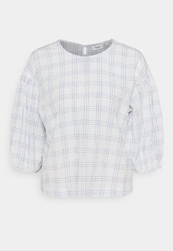 Marc O'Polo DENIM - BLOUSE CHECKED SLEEVES - Camicetta - multi/scandinavian white
