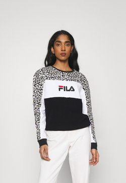 Fila - AMINA BLOCKED CREW  - Sweatshirt - black/white