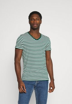 Tommy Hilfiger - STRETCH V NECK TEE - T-Shirt basic - rural green/ivory