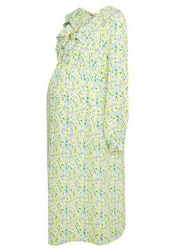Glamorous Bloom - CARE LONGLSEEVE MIDI DRESS - Korte jurk - white/yellow