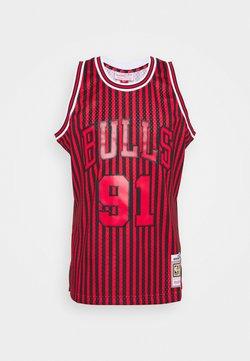 Mitchell & Ness - NBA CHICAGO BULLS STRIPED SWINGMAN RODMAN - Vereinsmannschaften - red