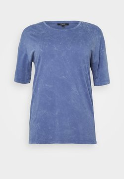 Simply Be - BOXY TUNIC - Camiseta estampada - denim blue