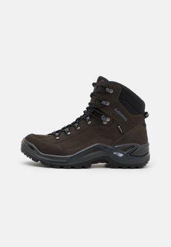 Lowa - RENEGADE GTX MID - Hiking shoes - dunkelbraun/schwarz