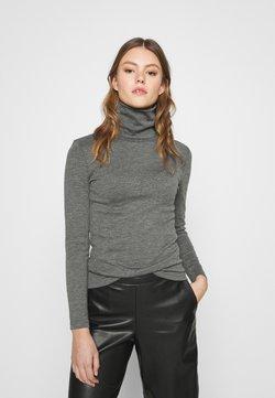 ONLY - ONLJOANNA ROLLNECK  - Långärmad tröja - dark grey melange