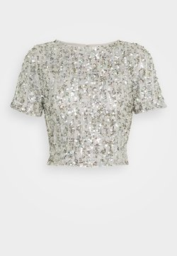 Lace & Beads Tall - LETTY - Blouse - light grey