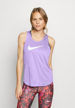 Nike Performance - TANK RUN - Camiseta de deporte - light thistle/reflective silver