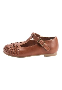 Next - WHITE WOVEN T-BAR SHOES (YOUNGER) - Lauflernschuh - brown