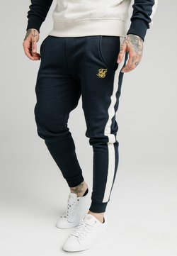SIKSILK - CUT AND SEW JOGGERS - Jogginghose - navy/cream