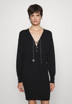Pinko - CASTEGGIO ABITO COSTINA MISTO - Vestido de punto - black