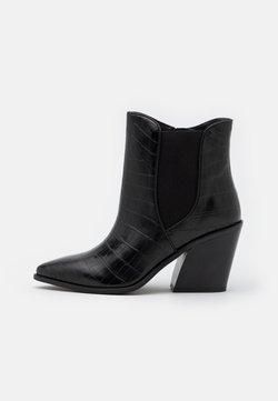 Simply Be - WIDE FIT AVENS - Korte laarzen - black