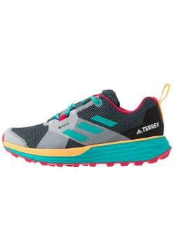 adidas Performance - TERREX TWO GORE-TEX - Löparskor terräng - blue/solar gold
