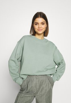 Weekday - HUGE CROPPED - Sweatshirt - sage green