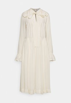 Victoria Beckham - PLEATED TEA DRESS - Vestido camisero - vanilla