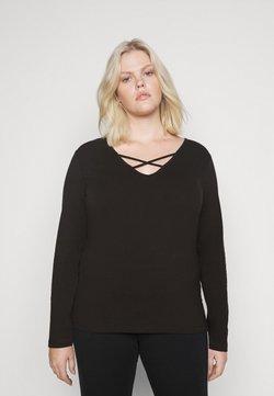 Even&Odd Curvy - Pitkähihainen paita - black