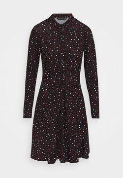 Dorothy Perkins - HEART PRINT DRESS - Blusenkleid - black