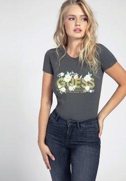 Guess - LOGO GLITTER - T-shirt z nadrukiem - verde