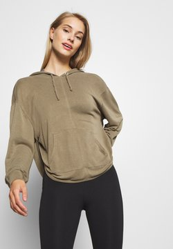 Free People - BACK INTO IT HOODIE - Huppari - army